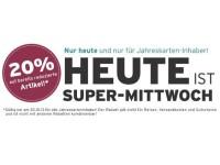 Ernstings-Family Super-Mittwoch: 20 Prozent Rabatt auf Sale-Produkte