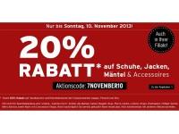 20 Prozent Rabatt bei Karstadt auf Jacken, Schuhe und Accessoires