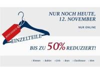 Sale bei C&A: Einzelteile bis zu 50 Prozent Rabatt