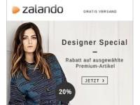 Designer Sale bei Zalando: Bis zu 20 Prozent Rabatt