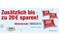 Galeria.de: Bis zu 20 Euro beim Weihnachts-Shopping sparen