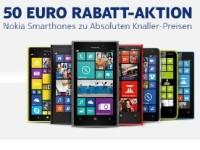 Notebooksbilliger.de: 50 Euro Rabatt auf Smartphones von Nokia