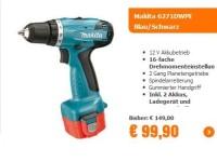 Notebooksbilliger.de: Akku-Bohrschrauber von Makita für nur 99,90 Euro