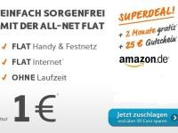 25 € Gutschein von Amazon + 2 Monate All-Net-Flat von Simyo für 1 €