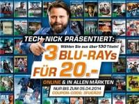 3 Blu-rays für 20 €: Günstige Filme bei Saturn