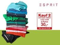 Galeria Kaufhof: 2 Esprit Herren-Poloshirts für 30 €
