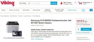 Viking: Samsung drucker & Kamera zum Sparpreis