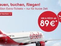 AirBerlin Jubelpreise: Hin- und Rückflug ab 89 €