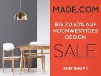 Made.com: 50% Rabatt auf Designermöbel