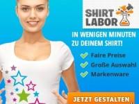 Shirtlabor: bis zu 20 Euro Rabatt auf eure designten Shirts