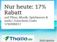 17% Hitze-Rabatt bei Thalia