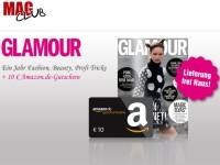 Glamour-Jahresabo: 10 Euro Amazon-Gutschein geschenkt