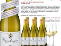 Hawesko: 6 Flaschen Chardonnay + 2 Weingläser nur 39 Euro
