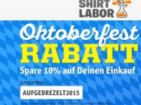 Shirtlabor: 10 Prozent Oktoberfest-Rabatt