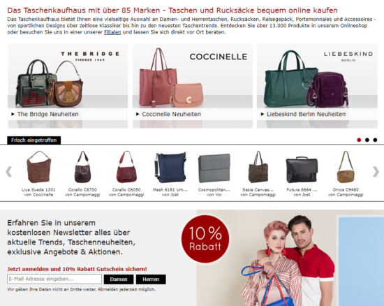 Startseite Taschenkaufhaus Online Shop