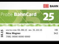 DB: Probe BahnCard 25 für nur 19 Euro plus 25% Rabatt bei Thalia