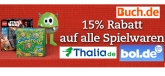 15 Prozent Rabatt Gutschein auf Spielwaren bei Thalia, BOL und buch.de