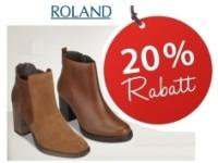 Roland Schuhe Gutschein für 20 Prozent Rabatt auf reduzierte Artikel