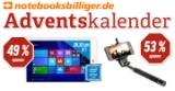 Adventskalender mit günstigen Angeboten bei notebooksbilliger.de