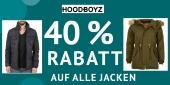 40 Prozent auf alle Jacken für Damen, Herren und Kinder bei Hoodboyz.de