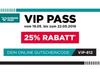 25 Prozent Rabatt im RUNNERS POINT VIP Sale