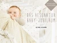 hessnatur Baby-Jubiläumsaktion: 40 Jahre, 40 Tage, 40 Angebote