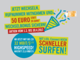 Lidl Connect: Rufnummermitnahme mit 50 Euro Wechselbonus bis 30. April 2017