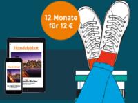 Handelsblatt Studentenangebot: 12 Monate Digital für nur 12 Euro