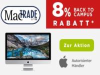 Mactrade: 8 Prozent Studentenrabatt beim Kauf eines MacBooks oder iMacs