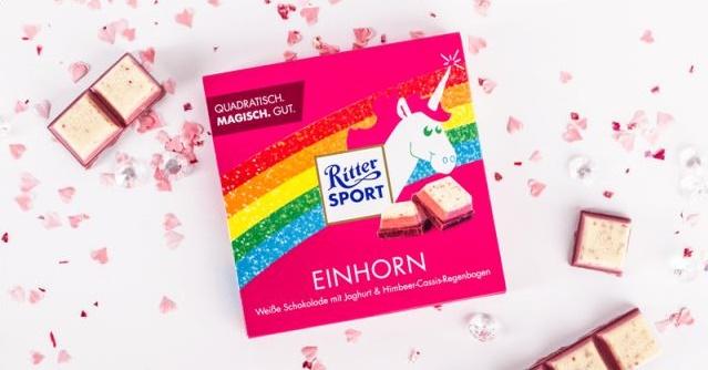 Einhorn Artikel Schokolade Ritter Sport Einhorn