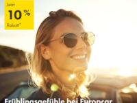 Verlängert! Europcar Frühlingsrabatt mit 10 Prozent auf Mietwagen