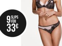 Hunkemöller Rabatt Aktion: 9 Slips für 33 Euro + 20 Prozent extra sparen