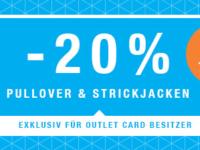 Zalando Outlet Stores: 20 Prozent Rabatt auf Pullover & Strickjacken