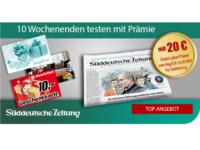 Süddeutsche Zeitung Test Abo: 10 Wochen + Prämien für 39,90 Euro