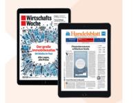 Gratis: 1 Jahr Handelsblatt ePaper + WirtschaftsWoche eMagazin