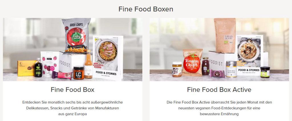 Foodist Gutschein Abo Box Lebensmittel