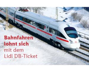 Lidl DB-Ticket: Bahn Gutschein für 2 Fahrten innerhalb Deutschlands