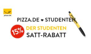 Studentenrabatt bei pizza.de: Täglich 15 Prozent Satt-Rabatt