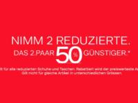 Deichmann 2-Rabatt-Aktion: 2. Paar 50 Prozent günstiger