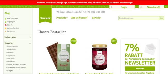 Xucker Gutschein Shop