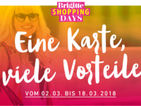Brigitte Shopping Days: Mit BRIGITTE Shopping Card Rabatte bei 50 Shops