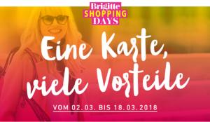 Brigitte Shopping Days: Mit BRIGITTE Shopping Card Rabatte bei 50 Shops
