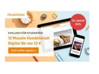 Handelsblatt Studentenabo: 12 Monate ePaper für nur 12 Euro