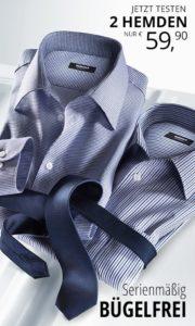 Walbusch 2 für 1-Aktion: 2 bügelfreie Hemden für 59,90 Euro