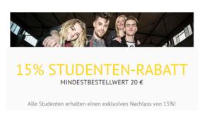 EMP Studentenrabatt: 15 Prozent Rabatt auf alle Artikel im Online Shop