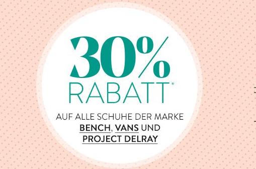 Roland Schuhe Aktion: 30 Prozent auf Bench, Vans + Project
