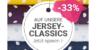 stoffe.de Aktion: 33 Prozent Rabatt auf Jerseystoffe Jersey-Classics