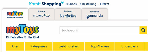 Kombi Shopping MyToys Gutschein