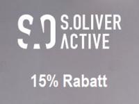 Sportlicher s.Oliver Rabatt: 15 Prozent auf s.Oliver ACTIVE Kollektion