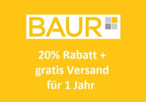 Die BAUR Versandkosten-Flatrate für Neukunden: 20% Rabatt + 12 Monate gratis Versand